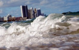 NORTH MIAMI, FL - MARCH 14: Buildings are seen near the ocean as reports indicate that Miami-Dade County in the future could be one of the most susceptible places when it comes to rising water levels due to global warming on March 14, 2012 in North Miami, Florida. Some cities in the South Florida area are starting to plan for what may be a catastrophic event for the people living within the flooding area. Climate change. (Photo by Joe Raedle/Getty Images)
