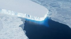 This undated handout photo provided by NASA shows the Thwaites Glacier in West Antarctic. Two new studies indicate that part of the huge West Antarctic ice sheet is starting a slow collapse in an unstoppable way. Alarmed scientists say that means even more sea level rise than they figured. (AP Photo/NASA)