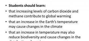 Changes in climate due to global warming