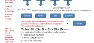 Ecological footprint ranking