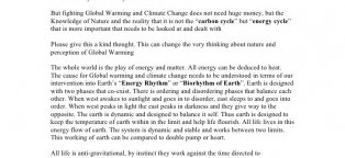 Global warming and Climatic change
