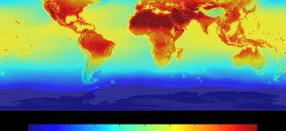 Global warming future map
