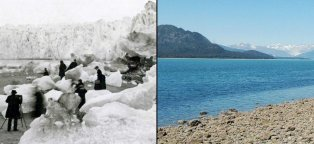 Global warming pictures before and after
