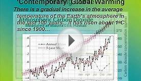 Global Warming - The Evidence and Role of Water and CO2